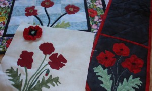A closer look at poppy applique.